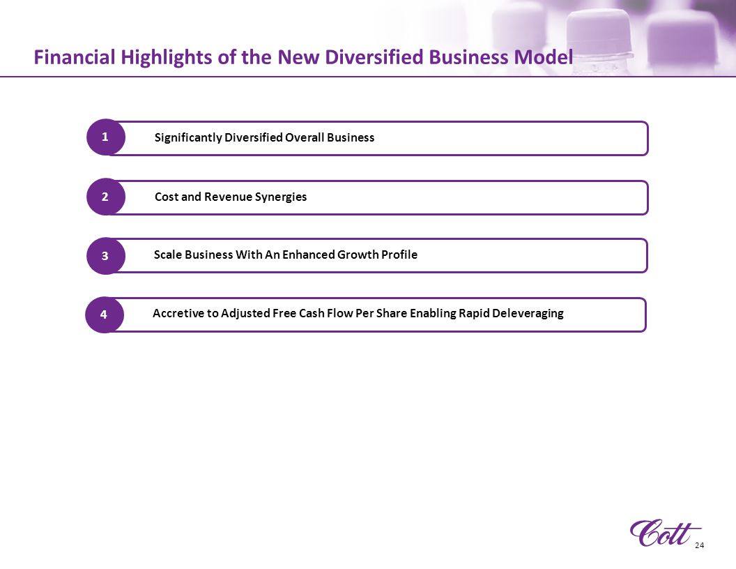 Financial Highlights of the New Diversified Business Model