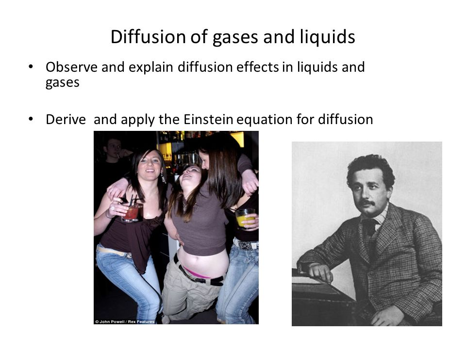 Diffusion of gases and liquids
