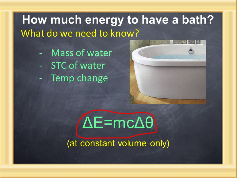 How much energy to have a bath