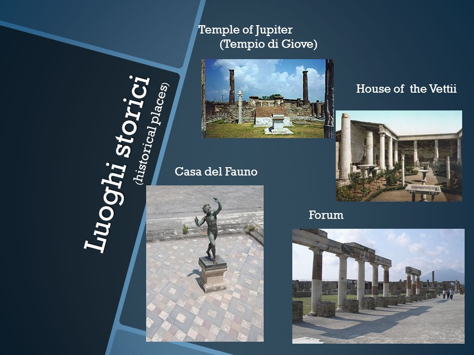 Luoghi storici (historical places)