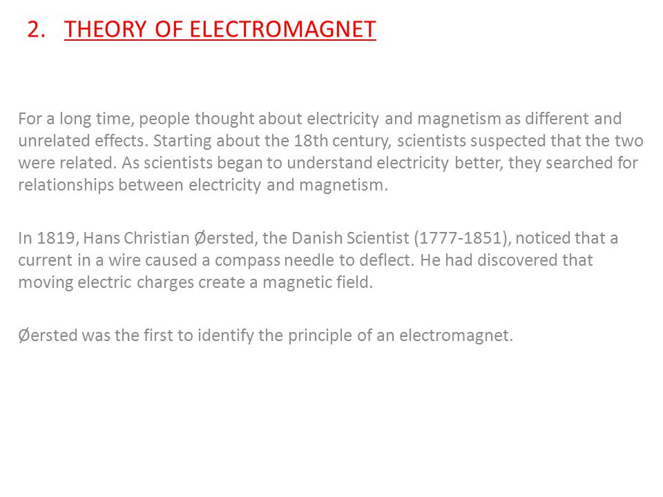 2. THEORY OF ELECTROMAGNET