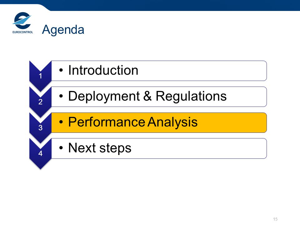 Deployment & Regulations Performance Analysis Next steps