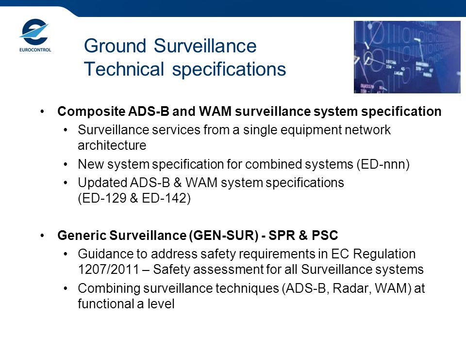 Ground Surveillance Technical specifications