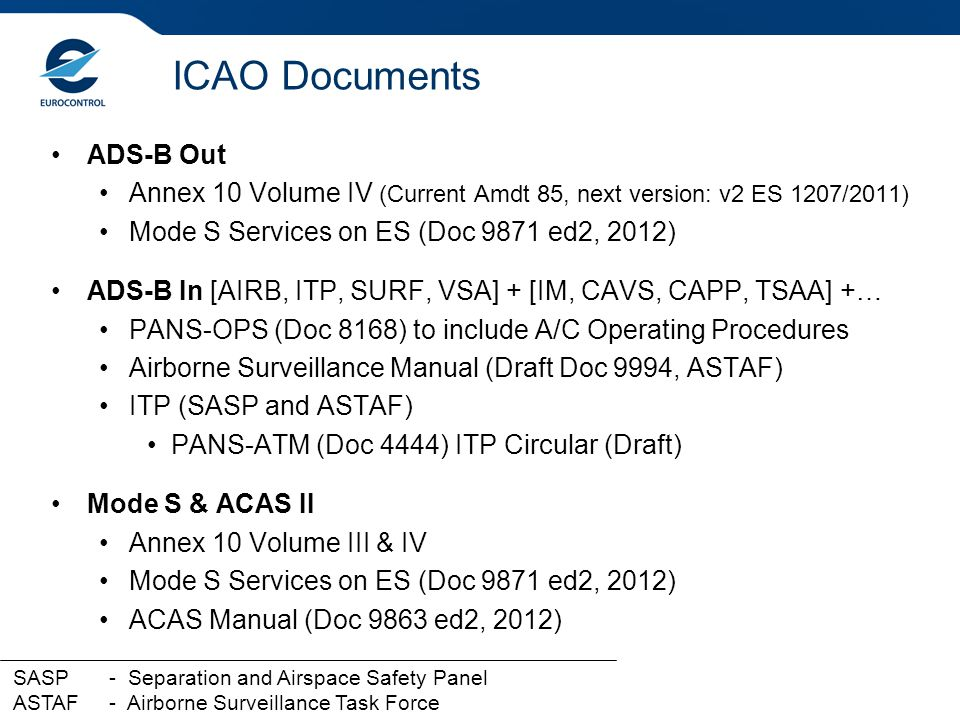 ICAO Documents ADS-B Out
