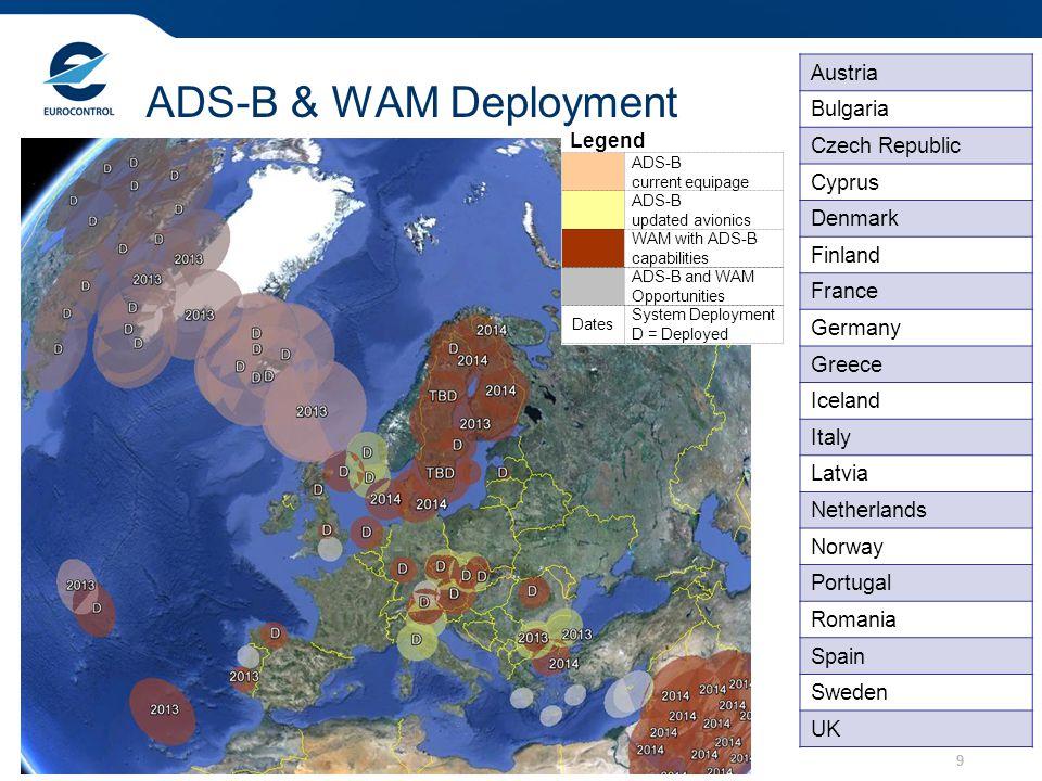 ADS-B & WAM Deployment Austria Bulgaria Czech Republic Cyprus Denmark