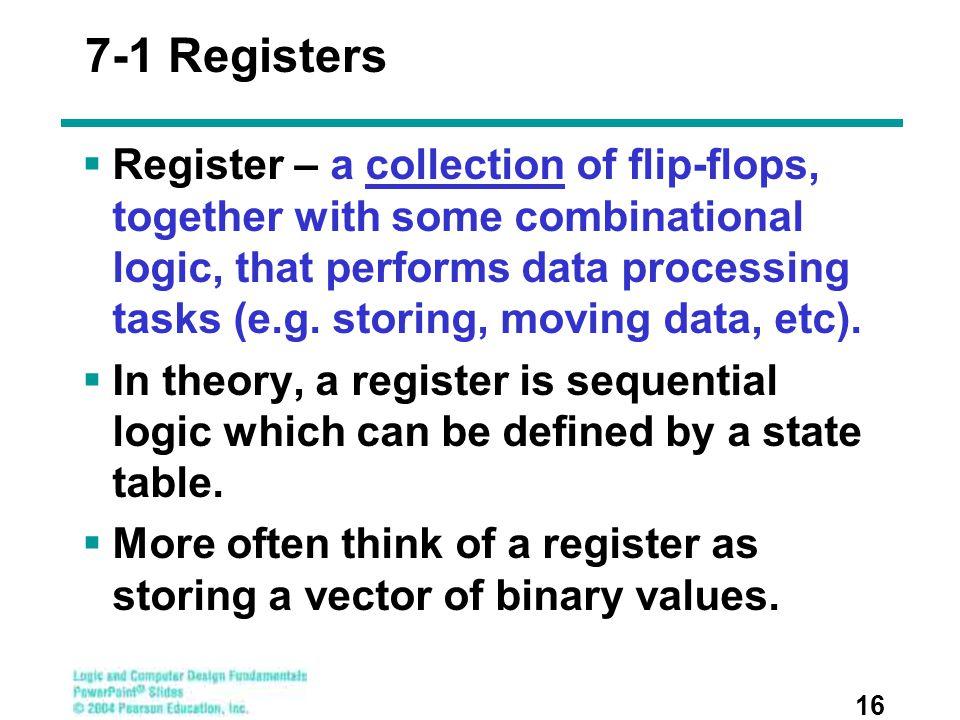 7-1 Registers