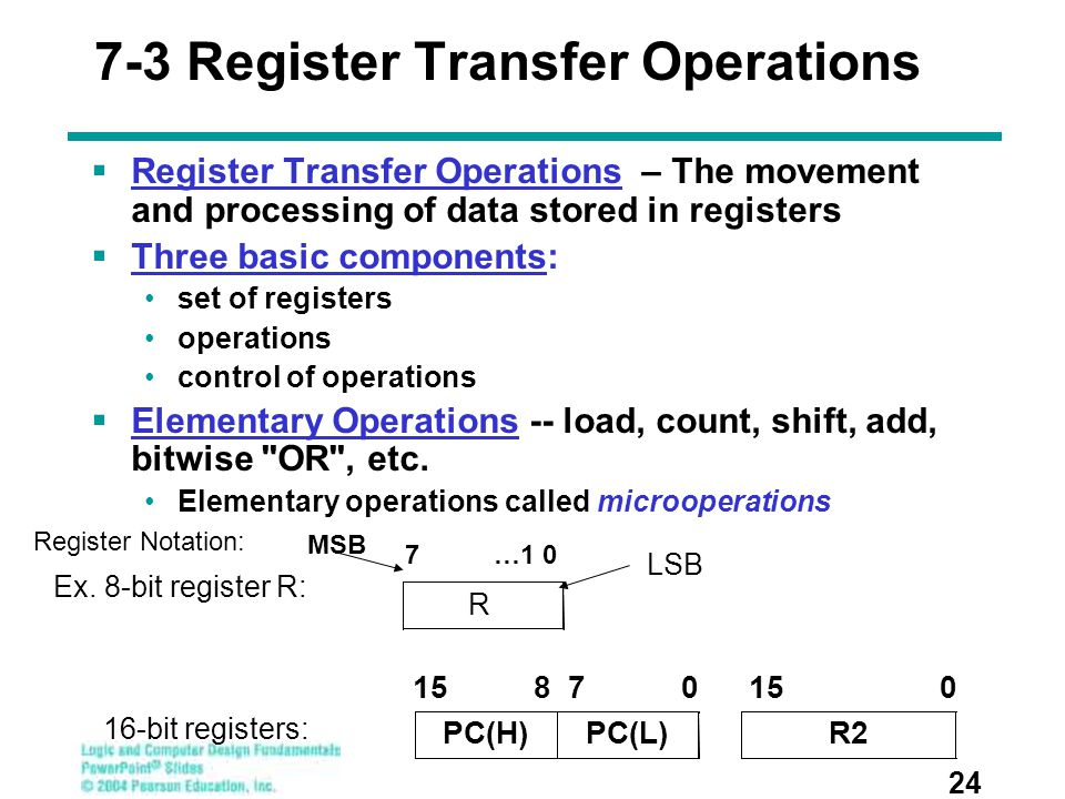7-3 Register Transfer Operations