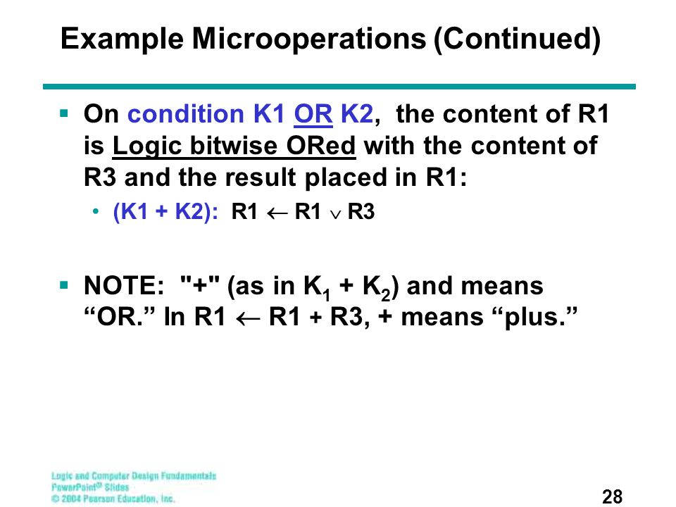 Example Microoperations (Continued)