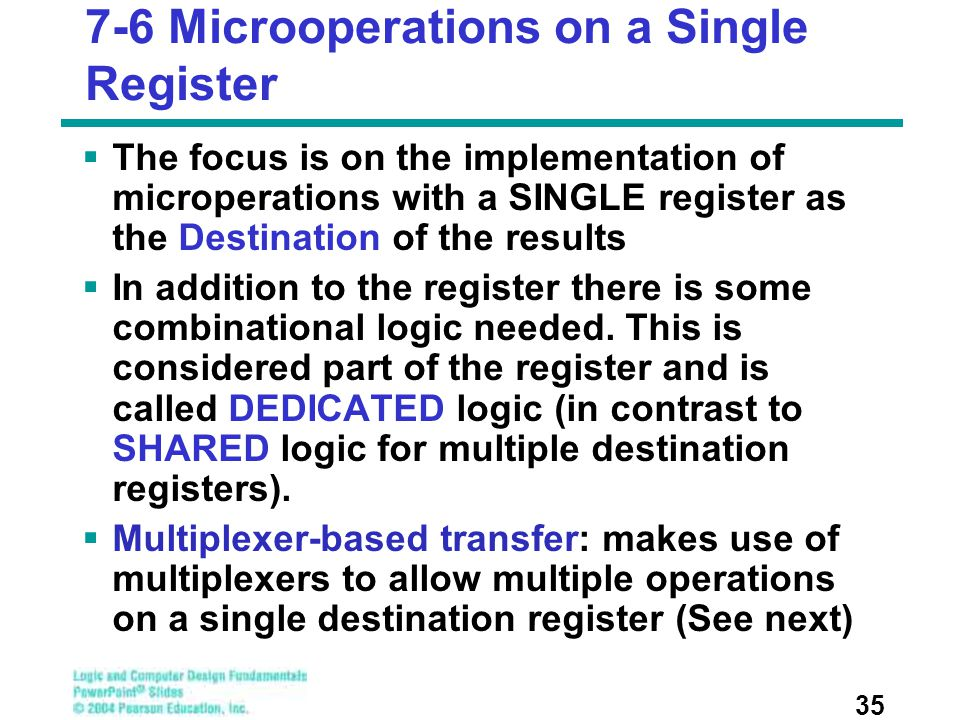 7-6 Microoperations on a Single Register