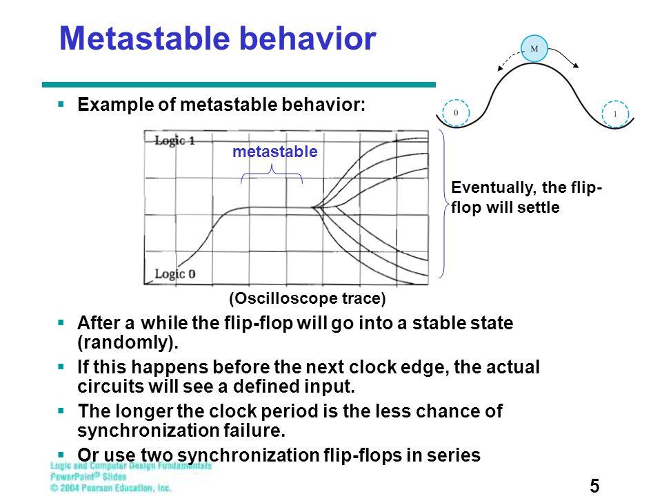 Metastable behavior Example of metastable behavior: