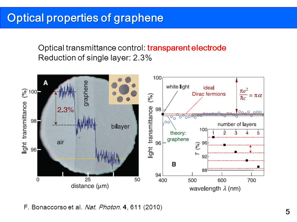 Optical properties of graphene