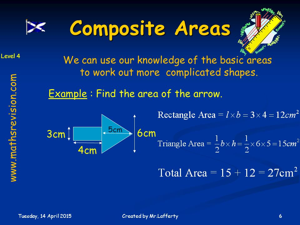 Composite Areas We can use our knowledge of the basic areas