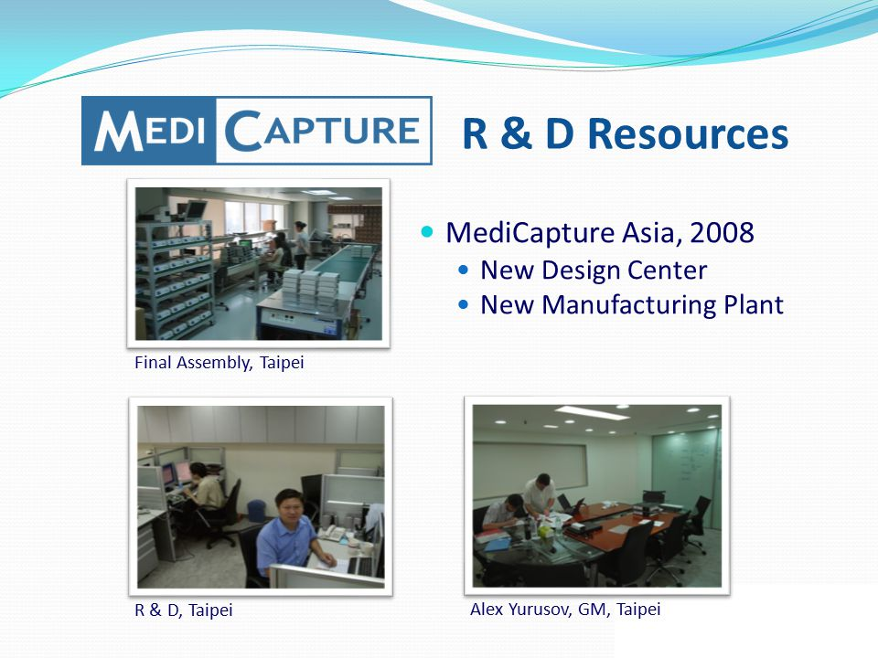 R & D Resources MediCapture Asia, 2008 New Design Center
