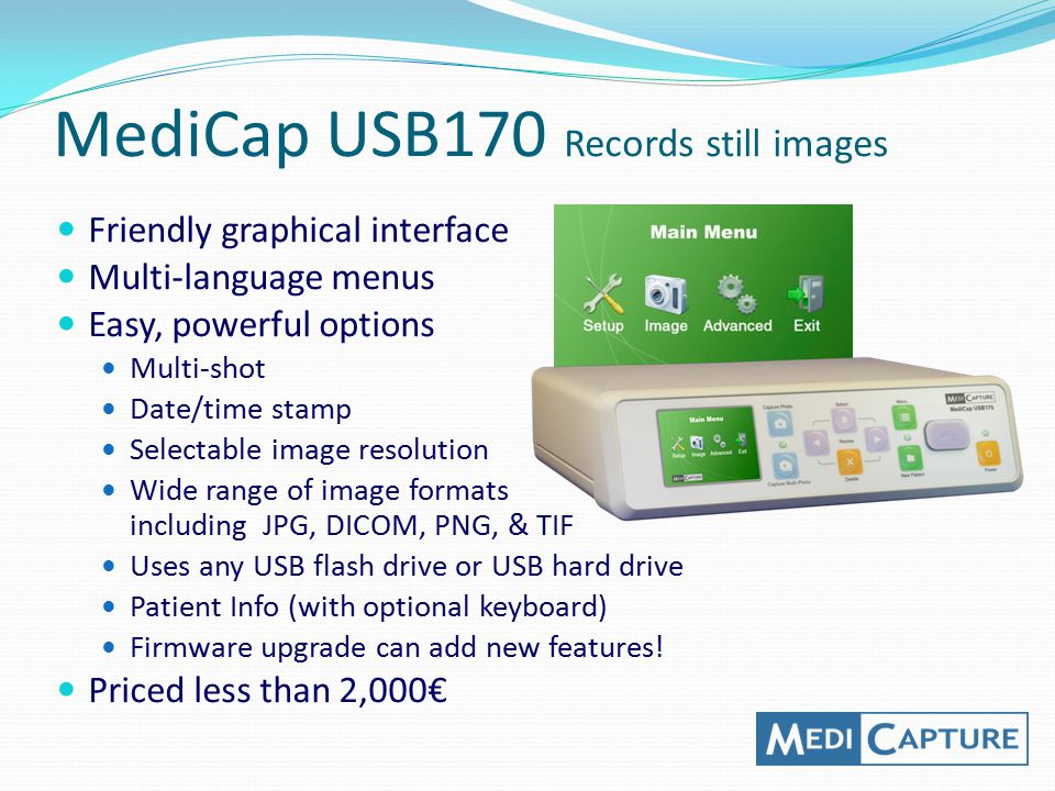 MediCap USB170 Records still images