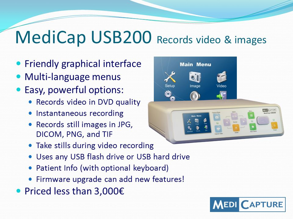 MediCap USB200 Records video & images