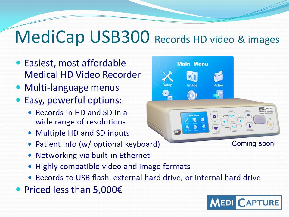 MediCap USB300 Records HD video & images