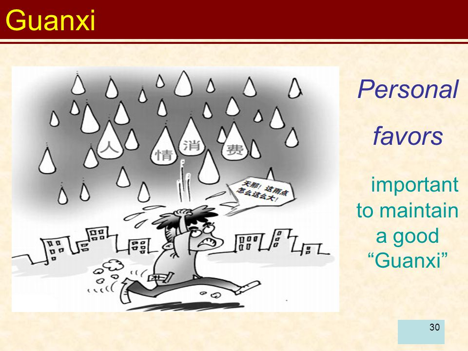 important to maintain a good Guanxi