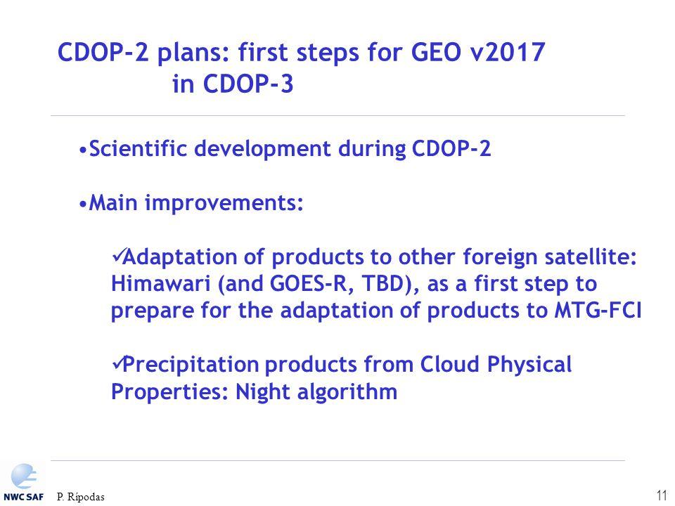 CDOP-2 plans: first steps for GEO v2017 in CDOP-3
