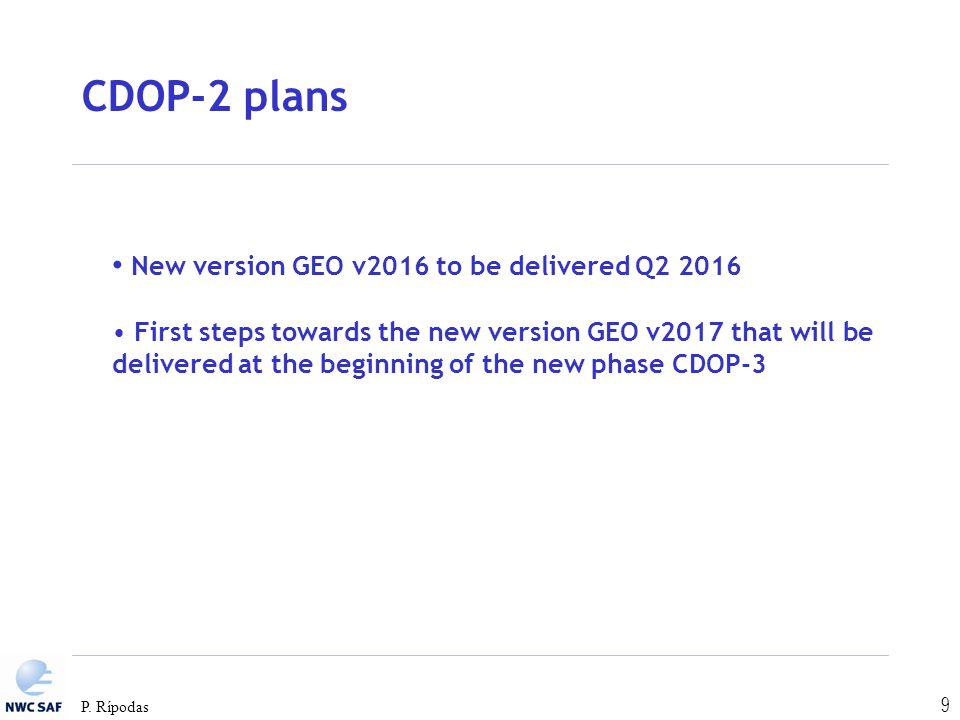 CDOP-2 plans New version GEO v2016 to be delivered Q2 2016
