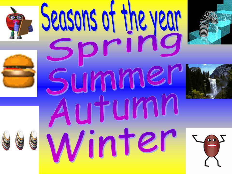 Seasons of the year Spring Summer Autumn Winter