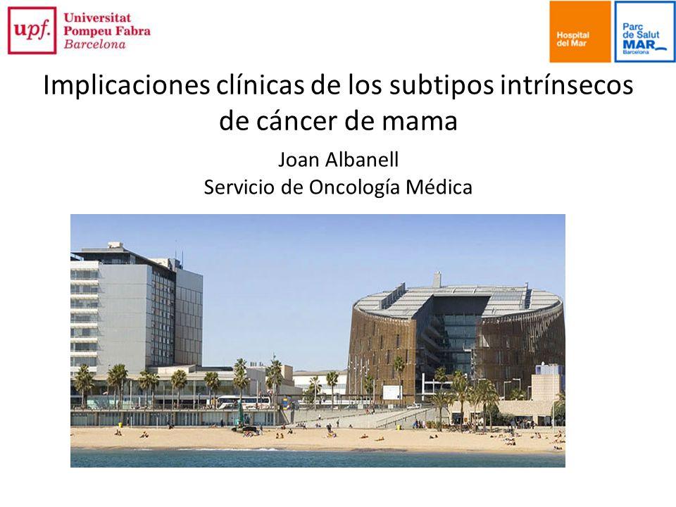 Implicaciones clínicas de los subtipos intrínsecos de cáncer de mama