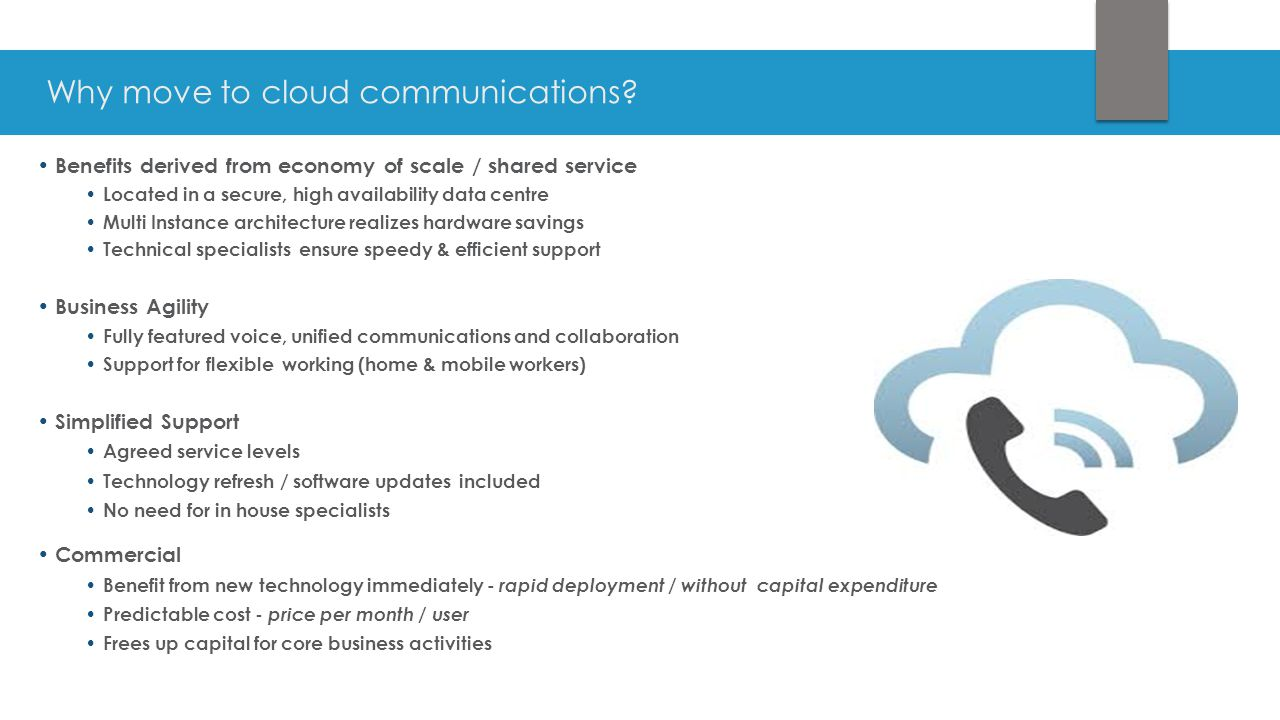 Why move to cloud communications