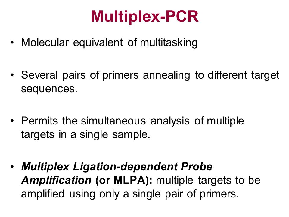 Multiplex-PCR Molecular equivalent of multitasking