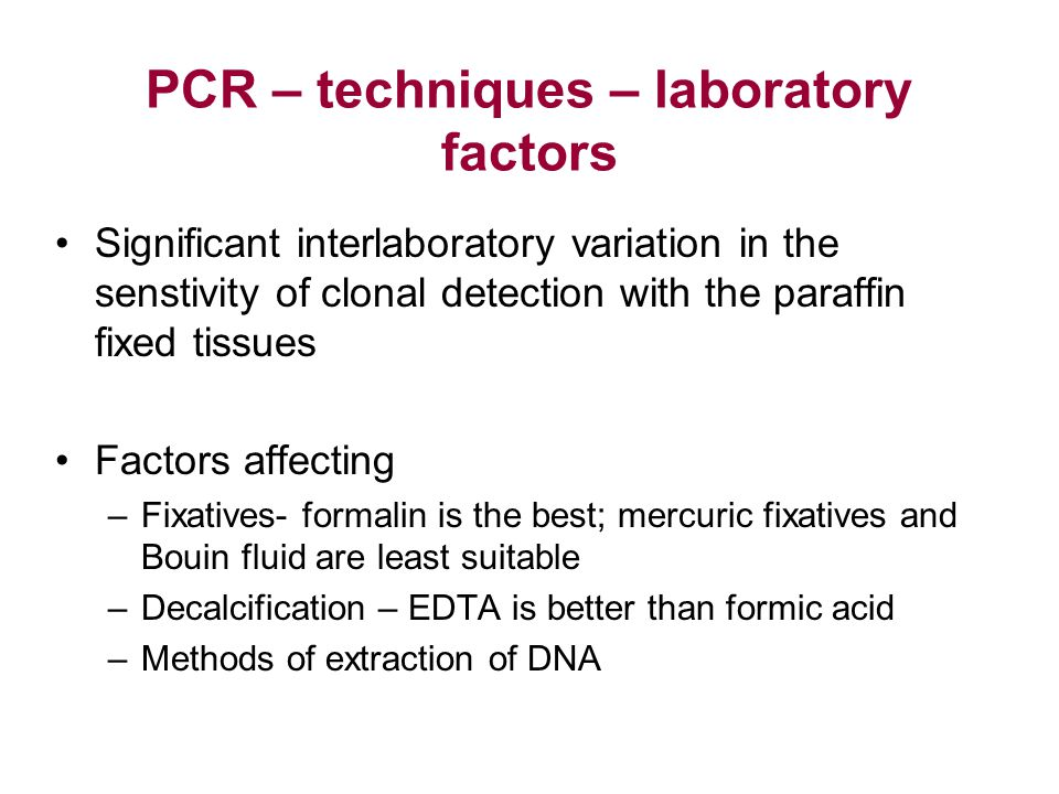 PCR – techniques – laboratory factors