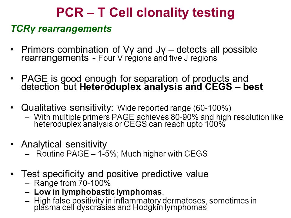 PCR – T Cell clonality testing