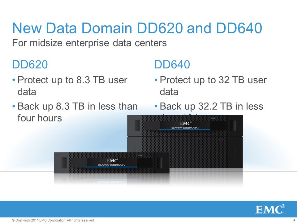 New Data Domain DD620 and DD640