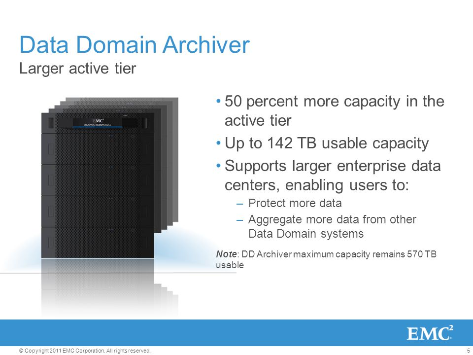Data Domain Archiver Larger active tier