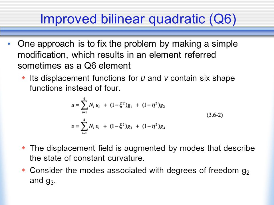 Improved bilinear quadratic (Q6)