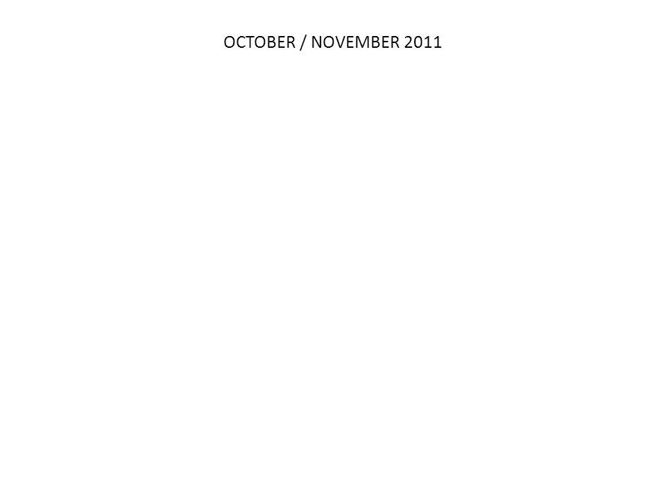 OCTOBER / NOVEMBER 2011 Q2 11 MAY 2010