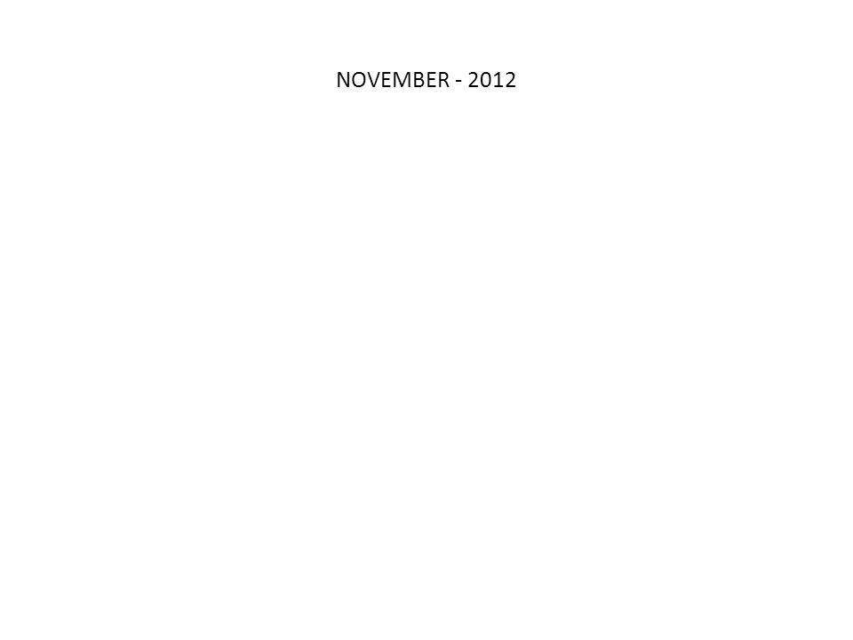 NOVEMBER - 2012 Q2 11 MAY 2010