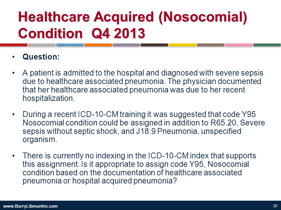 Healthcare Acquired (Nosocomial) Condition Q4 2013