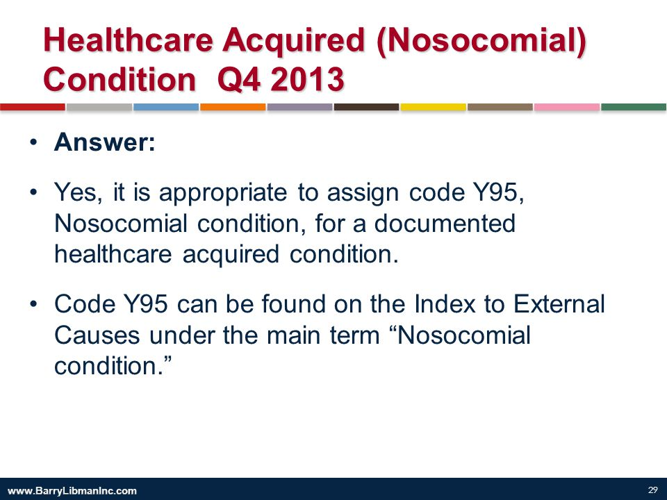 Healthcare Acquired (Nosocomial) Condition Q4 2013