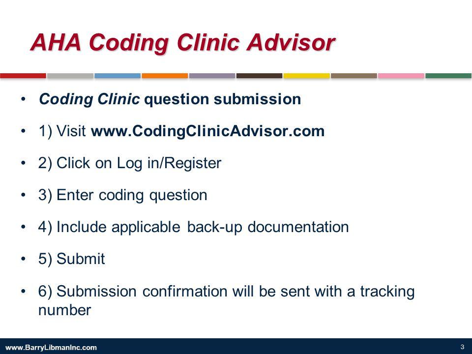 AHA Coding Clinic Advisor