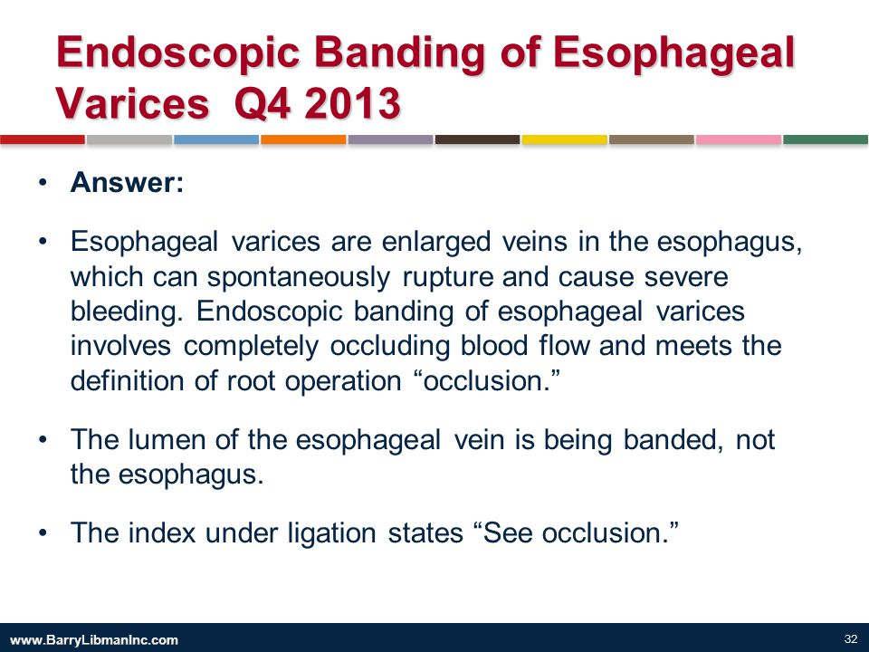 Endoscopic Banding of Esophageal Varices Q4 2013