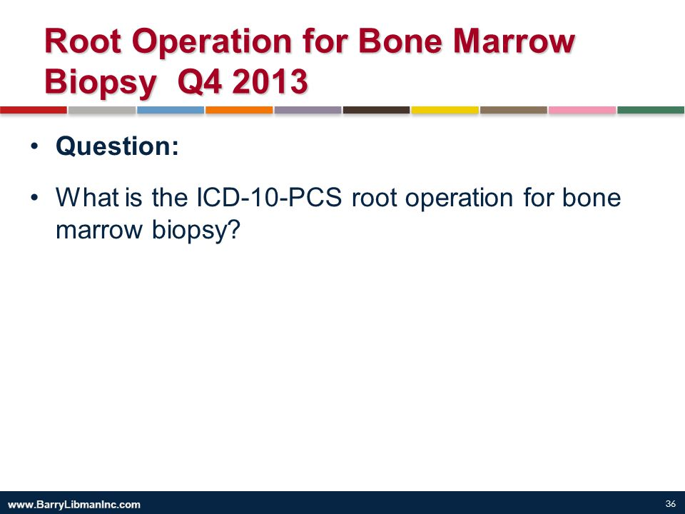 Root Operation for Bone Marrow Biopsy Q4 2013