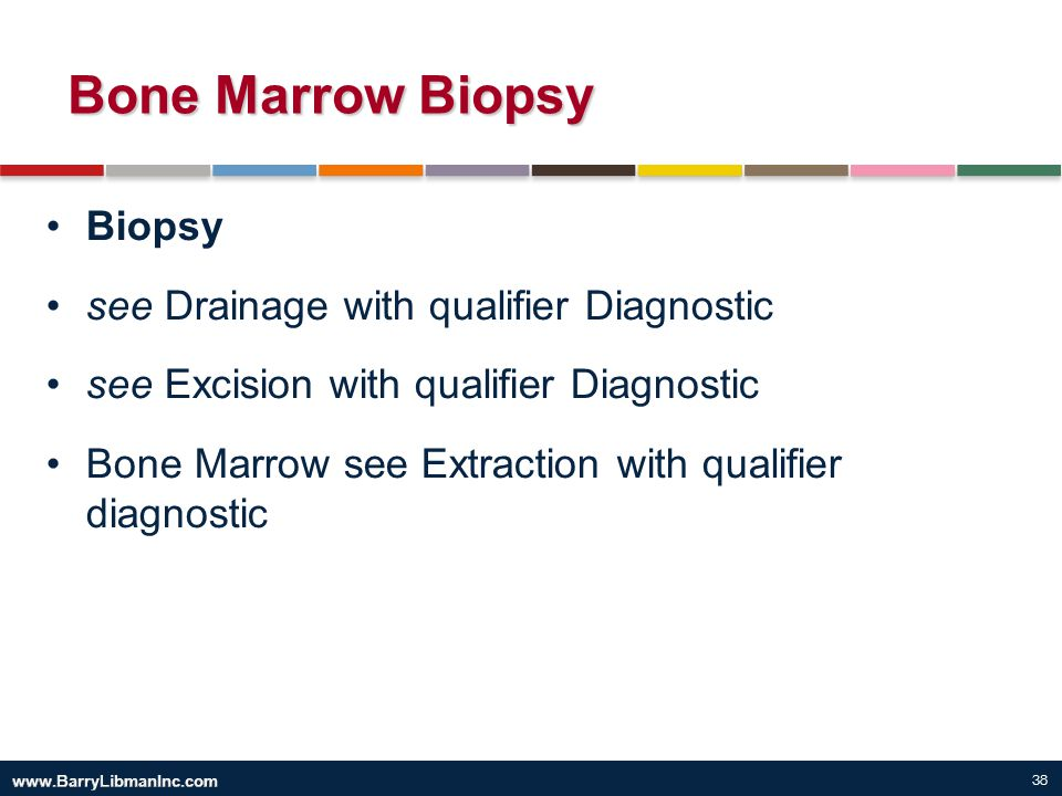 Bone Marrow Biopsy Biopsy see Drainage with qualifier Diagnostic
