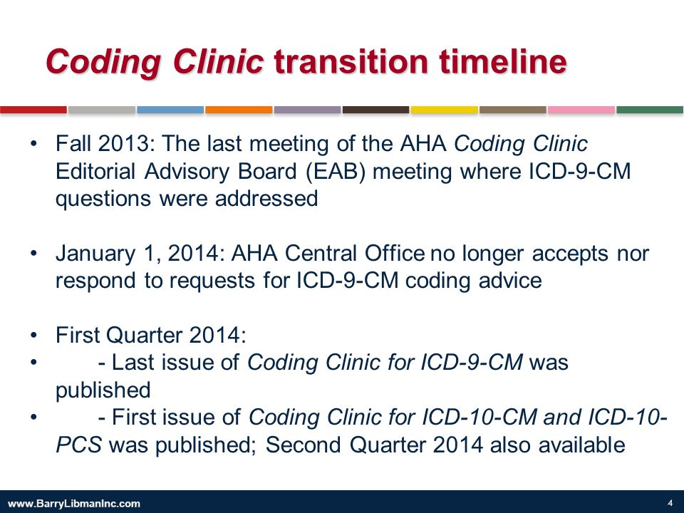 Coding Clinic transition timeline