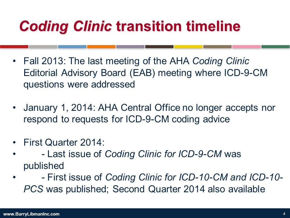 Coding Clinic transition timeline