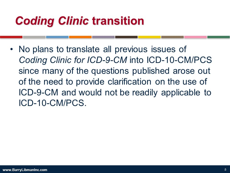 Coding Clinic transition