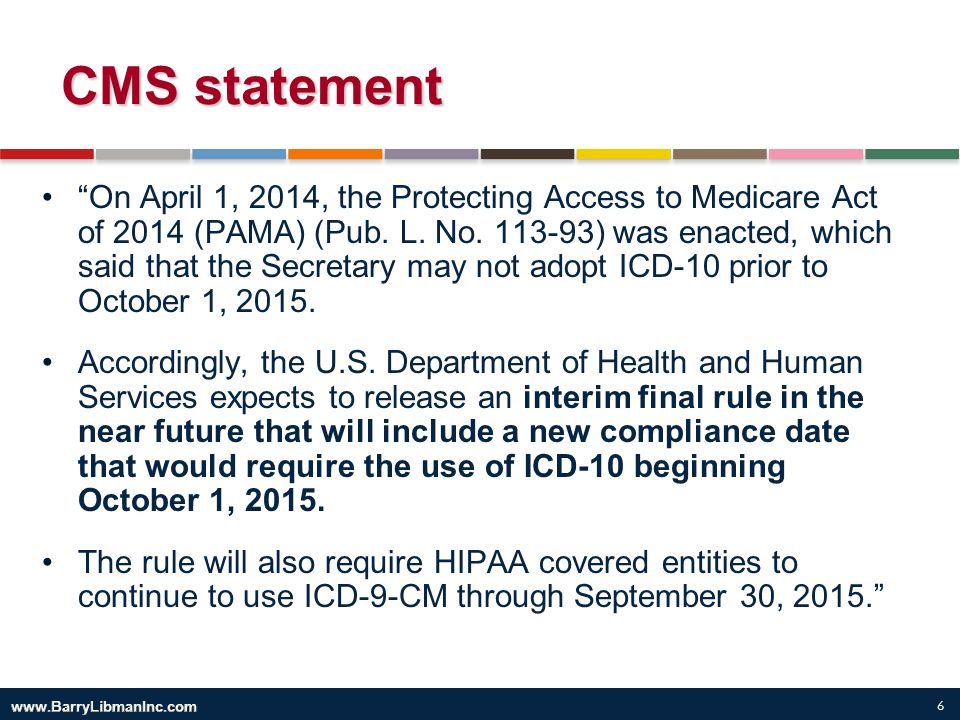 CMS statement