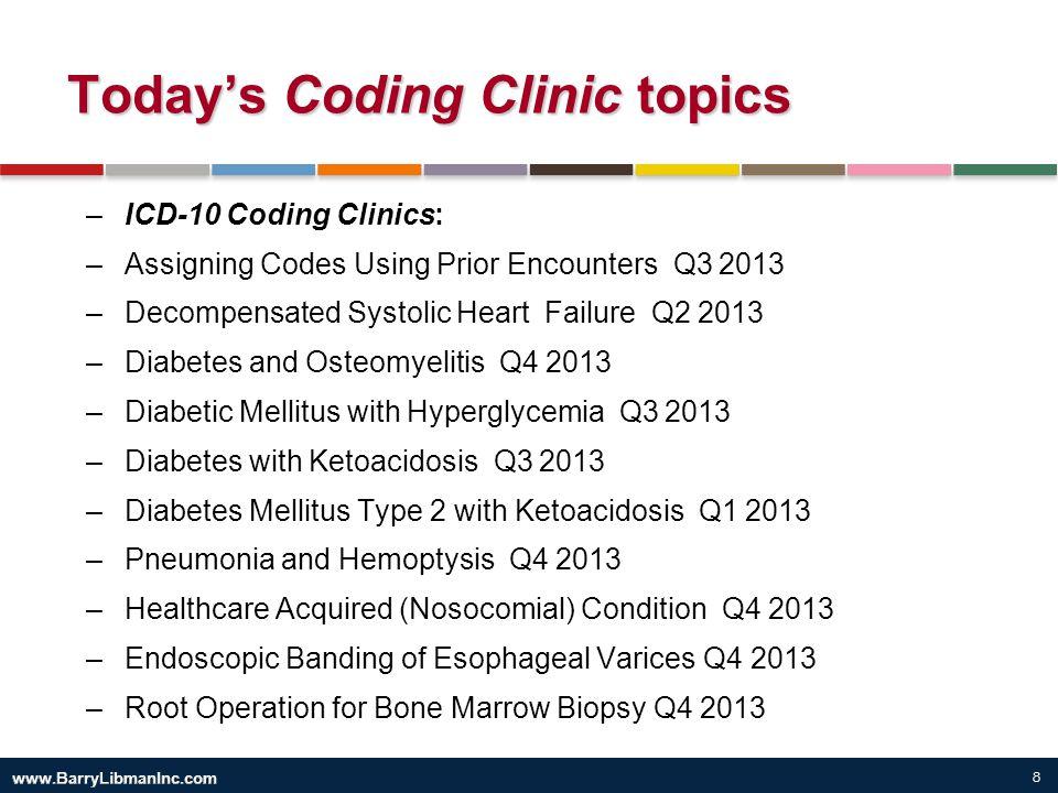 Today's Coding Clinic topics