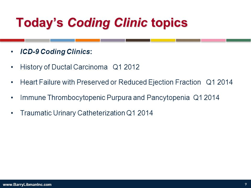 Today's Coding Clinic topics