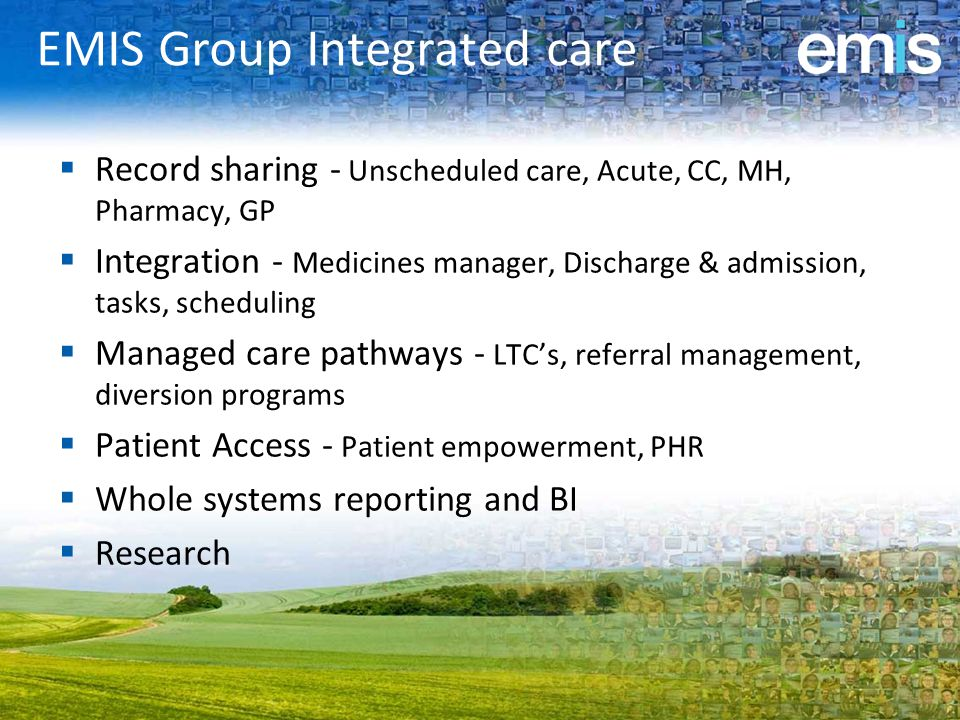 EMIS Group Integrated care