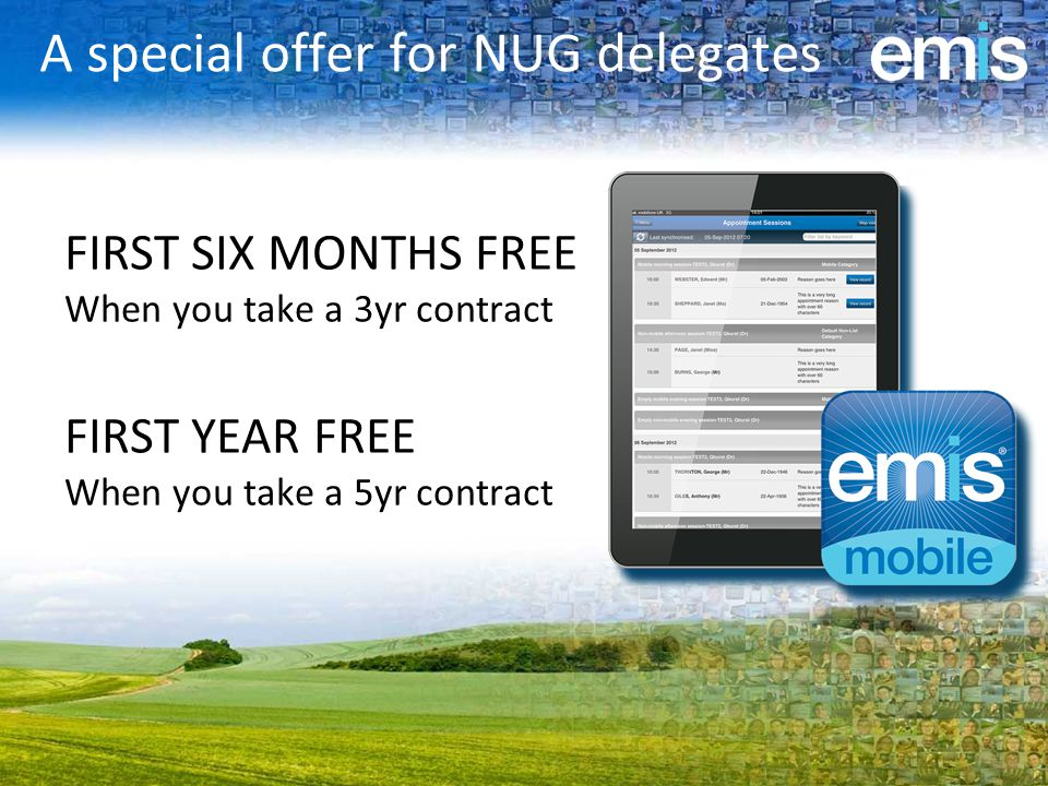 A special offer for NUG delegates