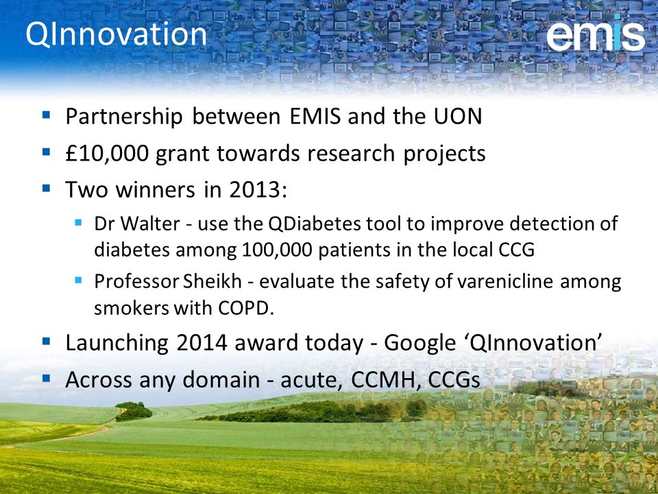 QInnovation Partnership between EMIS and the UON