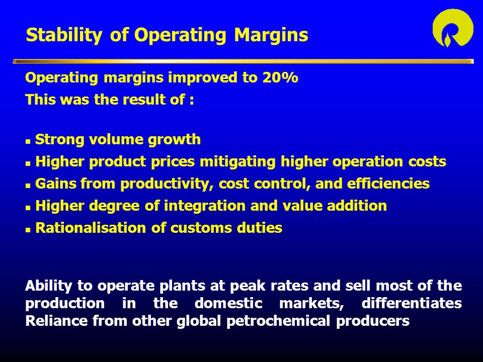 Stability of Operating Margins